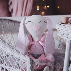 maskotka królik z długimi uszami 10 - poscielarnia.pl