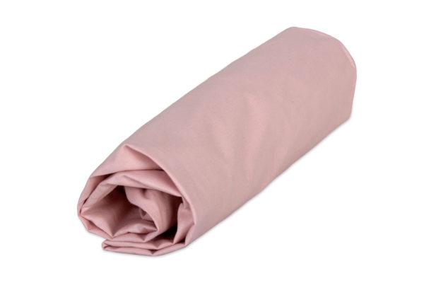 przescieradlo brudno rozowe pudrowe