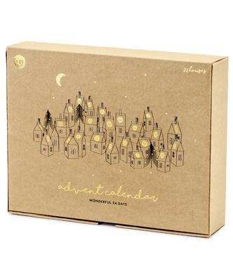 kalendarz domki papierowe